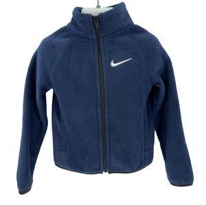 Nike Boys Navy Full Zip Obsidian Fleece Jacket 3T